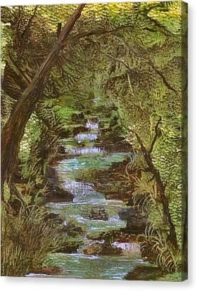 Dartmoor River Canvas Print by Carol Rowland