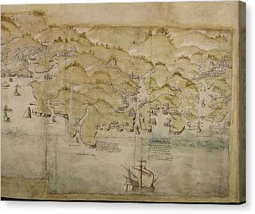 Dartmouth And Exeter Canvas Print by British Library