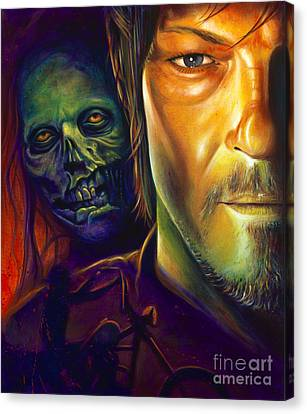 Comic Book Canvas Print - Daryl Dixon by Scott Spillman