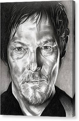 Daryl Dixon - The Walking Dead Canvas Print by Fred Larucci