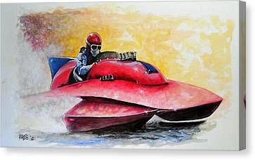Dash And Splash Canvas Print by William Walts