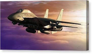 Jet Canvas Print - Dash by Dorian Dogaru