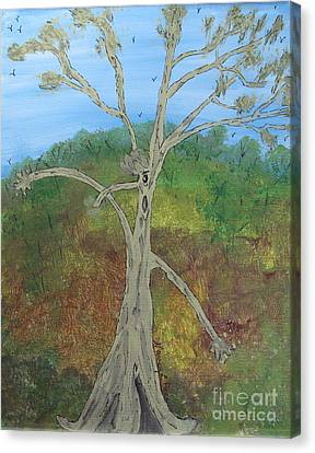 Dash The Running Tree Canvas Print