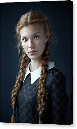 Braids Canvas Print - Dasha by Alexander Vinogradov