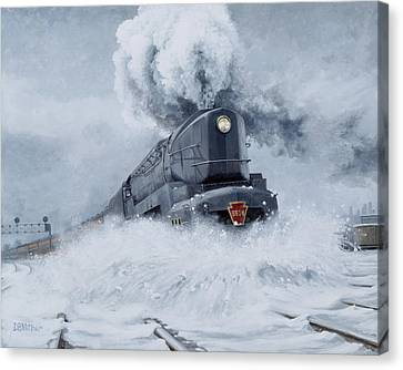 Dashing Through The Snow Canvas Print by David Mittner