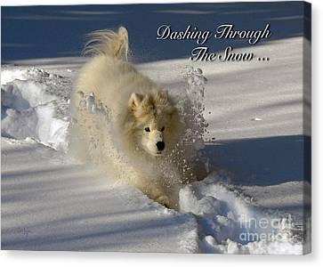 Dashing Through The Snow Canvas Print by Lois Bryan