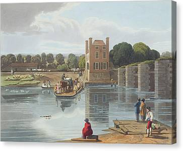 Horse And Cart Canvas Print - Datchet Ferry, Near Windsor, Engraved by William Havell