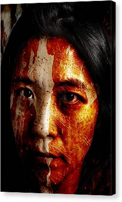 Daughter Of The Trees Canvas Print by Christopher Gaston