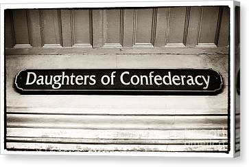 Daughters Of Confederacy Canvas Print by John Rizzuto
