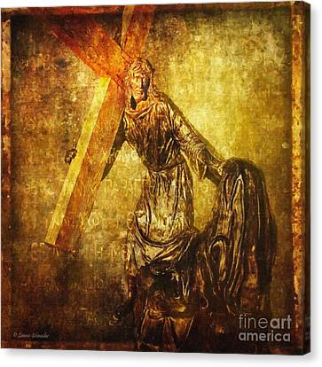 Daughters Of Jerusalem Via Dolorosa 8 Canvas Print by Lianne Schneider