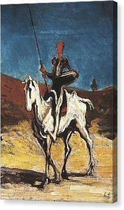 1616 Canvas Print - Daumier, Honor� 1808-1879. Don Quixote by Everett