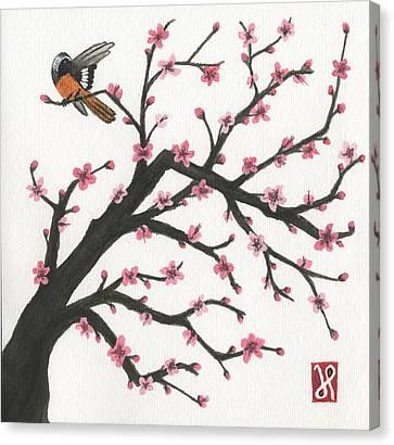 Daurian Redstart Canvas Print by Jamie Seul