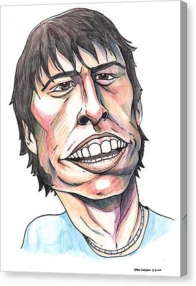 Dave Grohl Caricature Canvas Print by John Ashton Golden