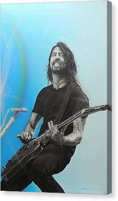 ' Dave Grohl ' Canvas Print by Christian Chapman Art