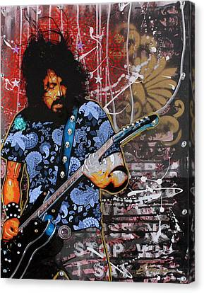 Gibson Guitar Canvas Print - Dave Grohl by Gary Kroman