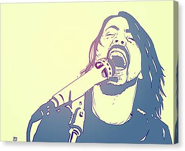 Rock Music Canvas Print - Dave Grohl by Giuseppe Cristiano