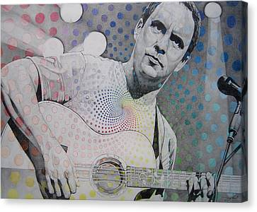 Dave Matthews All The Colors Mix Together Canvas Print by Joshua Morton