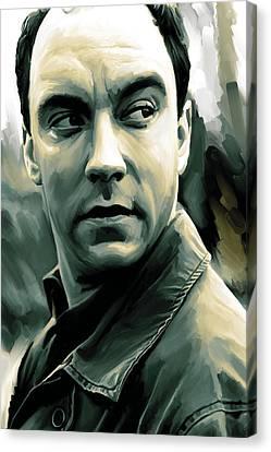 Dave Matthews Artwork Canvas Print by Sheraz A