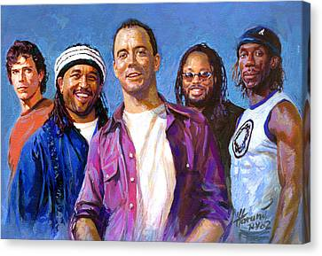 Canvas Print featuring the drawing Dave Matthews Band by Viola El