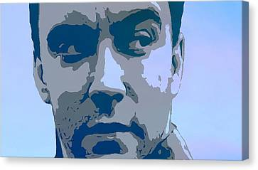Dave Matthews Blue Canvas Print by Dan Sproul