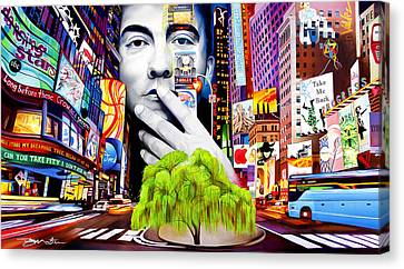 Times Square Canvas Print - Dave Matthews Dreaming Tree by Joshua Morton