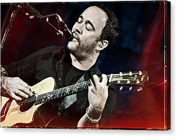 Dave Matthews Live At Farm Aid  Canvas Print by Jennifer Rondinelli Reilly - Fine Art Photography