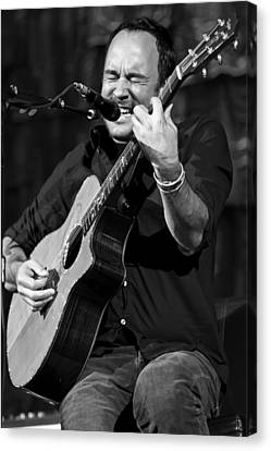 Dave Matthews On Guitar 1 Canvas Print by Jennifer Rondinelli Reilly - Fine Art Photography