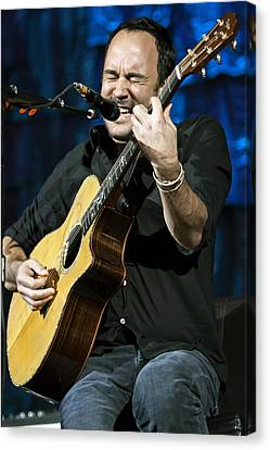 Dave Matthews On Guitar 3 Canvas Print by Jennifer Rondinelli Reilly - Fine Art Photography
