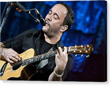 Dave Matthews On Guitar 6 Canvas Print by Jennifer Rondinelli Reilly - Fine Art Photography