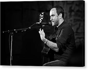 Dave Matthews On Guitar 7 Canvas Print by Jennifer Rondinelli Reilly - Fine Art Photography