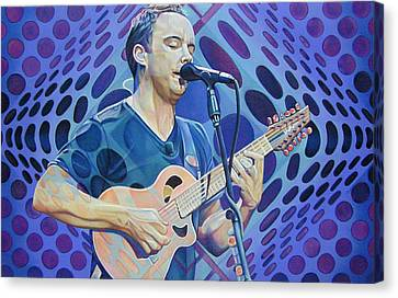 Dave Matthews Band Canvas Print - Dave Matthews Pop-op Series by Joshua Morton