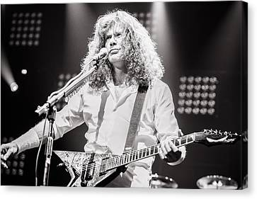 Dave Mustain From Megadeth. Live 2012 Canvas Print by Lidia Sharapova