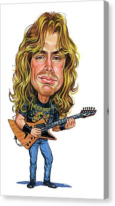 Caricature Canvas Print - Dave Mustaine by Art