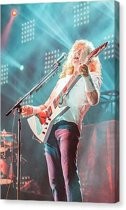 Dave Mustaine Live 2012 Canvas Print by Lidia Sharapova