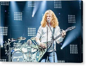 Dave Mustaine Live In Moscow 2012 Canvas Print by Lidia Sharapova