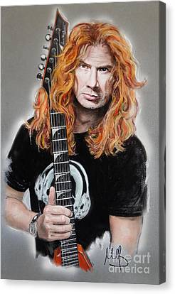 Dave Mustaine Canvas Print by Melanie D