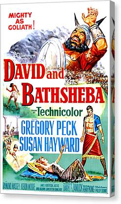 David And Bathsheba, Us Poster, Bottom Canvas Print by Everett