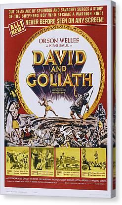 David And Goliath Canvas Print - David And Goliath, Aka David E Golia by Everett