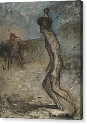 David And Goliath, C.1857 Canvas Print by Edgar Degas