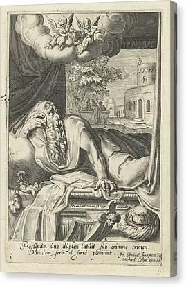 David As Penitent, Hugo De Groot, Michael Colyn Canvas Print by Artokoloro
