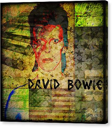 David Bowie Canvas Print by Absinthe Art By Michelle LeAnn Scott