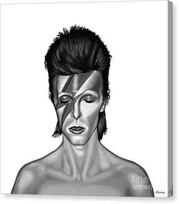 Dancing Canvas Print - David Bowie Aladdin Sane by Meijering Manupix