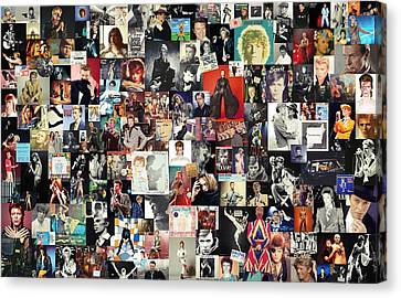 Living-room Canvas Print - David Bowie Collage by Taylan Apukovska