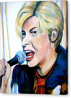 David Bowie Canvas Print by Debi Starr