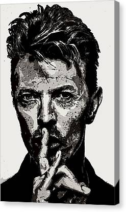 David Bowie - Pencil Canvas Print by Doc Braham