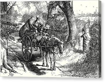 Horse And Cart Canvas Print - David Copperfield I Saw To My Amazement Peggotty Burst by English School