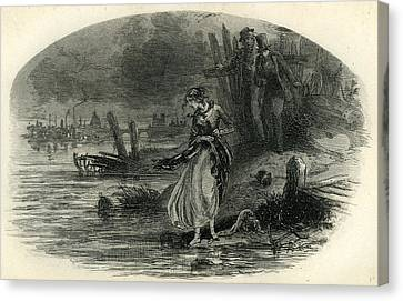 David Copperfield The River Canvas Print by English School
