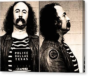 Arrest Canvas Print - David Crosby Mug Shot by Bill Cannon