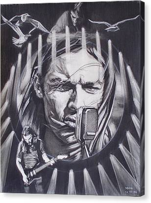 David Gilmour Of Pink Floyd - Echoes Canvas Print