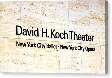 David H. Koch Theater Canvas Print by Valentino Visentini